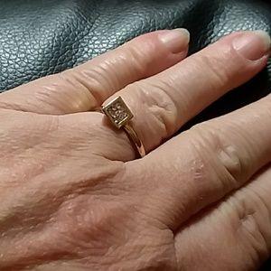 Jewelry - Beautiful asymmetrical cz ring!